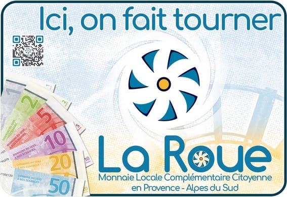 Enercoop Provence-Alpes-Côte d'Azur PACA - Partenariat - La Roue - Autocollant