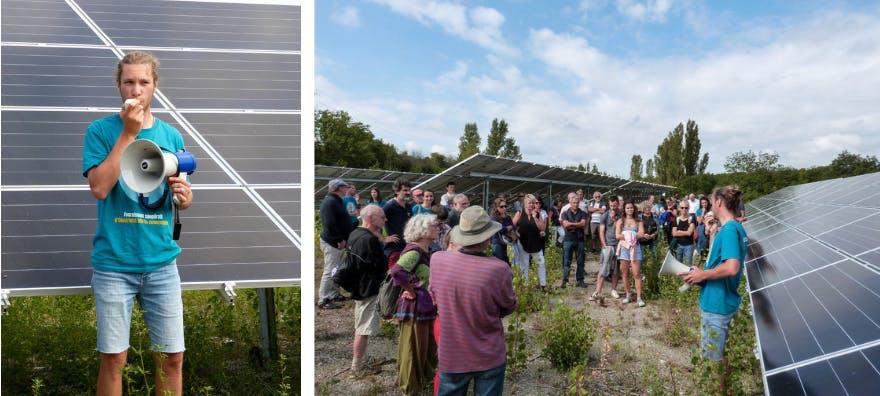 Inauguration du parc solaire de Villesèque - Lacombe de la Pature - d'Enercoop MIdi-Pyrénées
