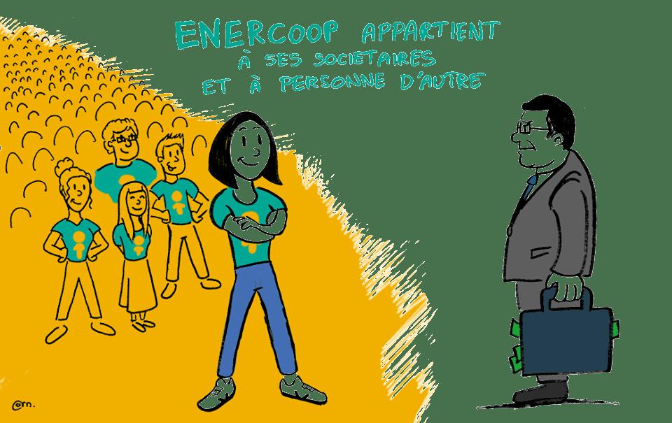 Illustration d'une soiétaire face à un homme d'affaires