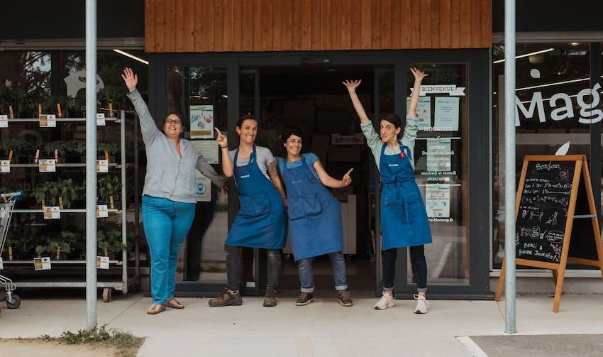 L'équipe du magasin Biocoop l'Aubre à Limoges - crédit photo : Lycia Walter - Enercoop Nouvelle-Aquitaine