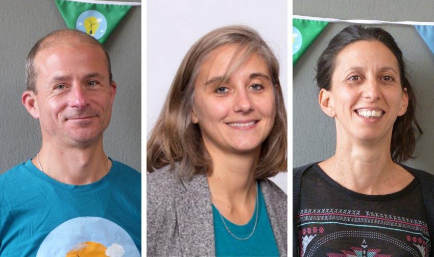 Les 3 co-président-es d'Enercoop Midi-Pyrénées