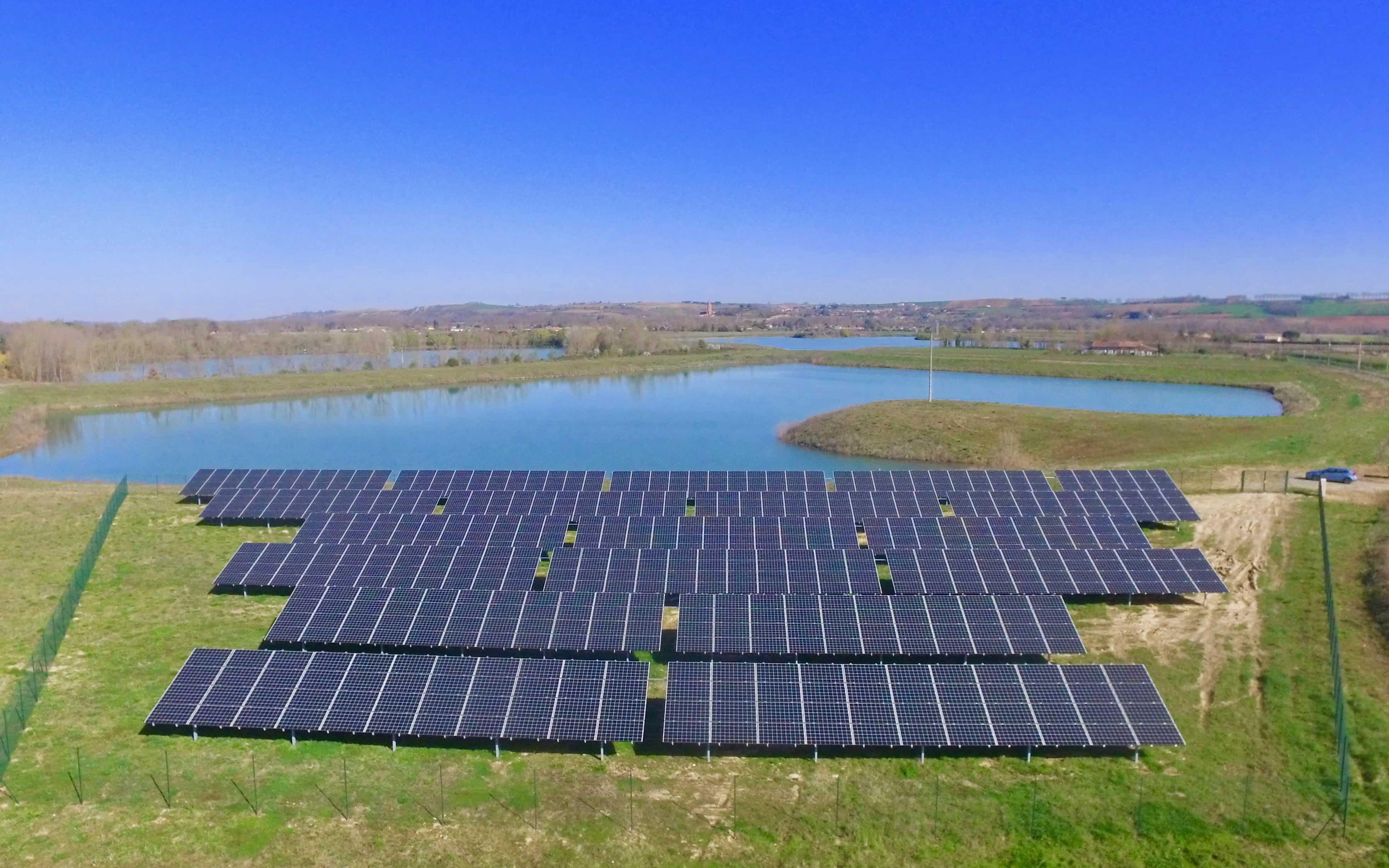 Le parc solaire d'Espalmade à Cintegabelle (31)