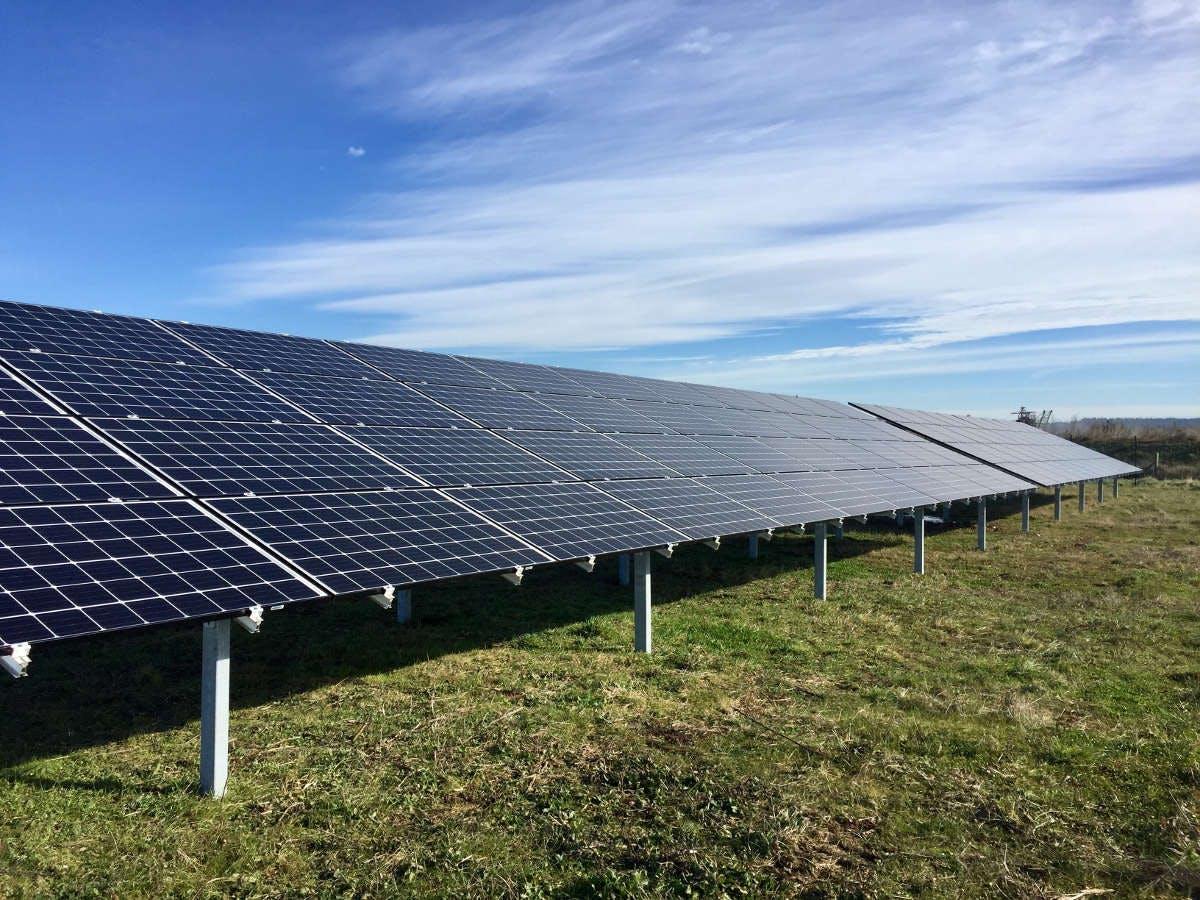 Panneaux solaires du parc d'Espalmade à Cintegabelle par Enercoop Midi-Pyrénées