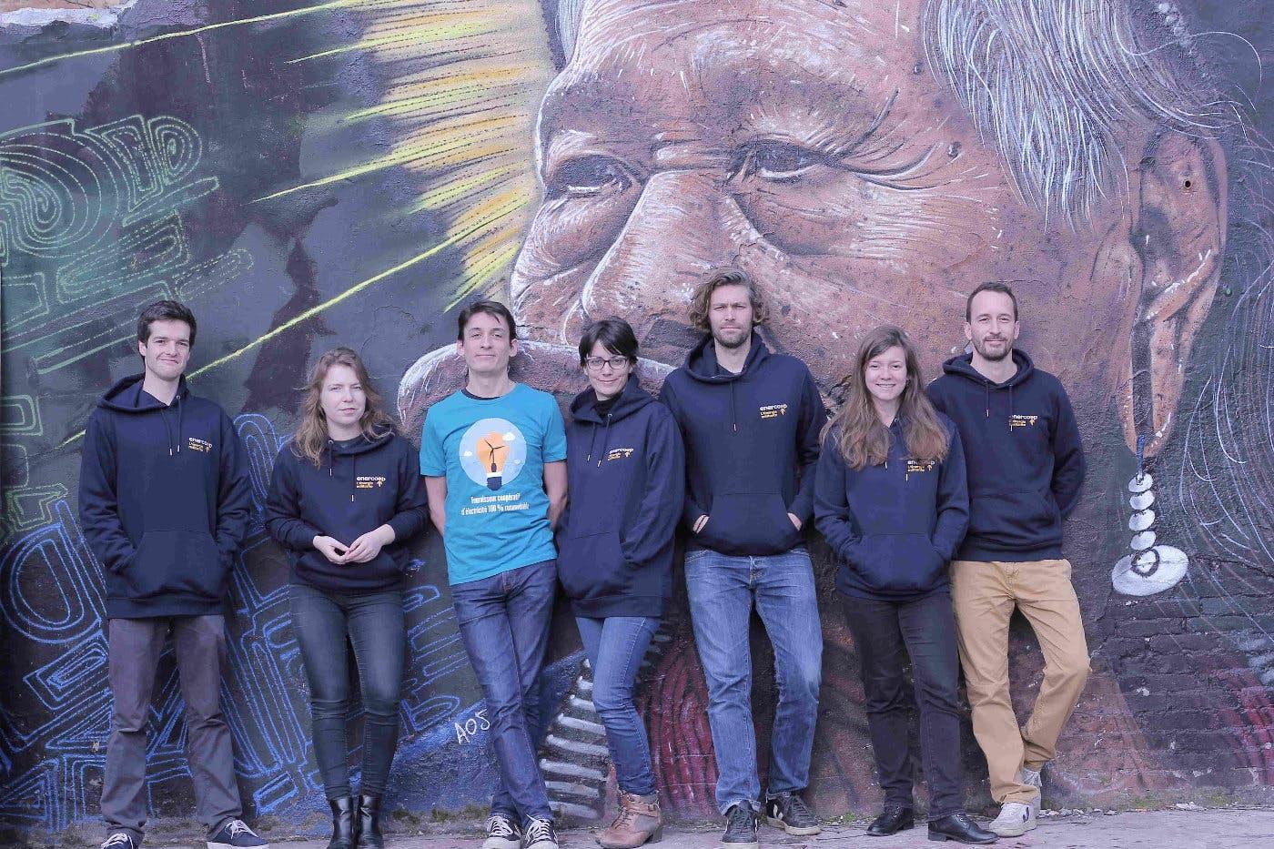 L'équipe salariée d'Enercoop Nouvelle-Aquitaine - janvier 2020