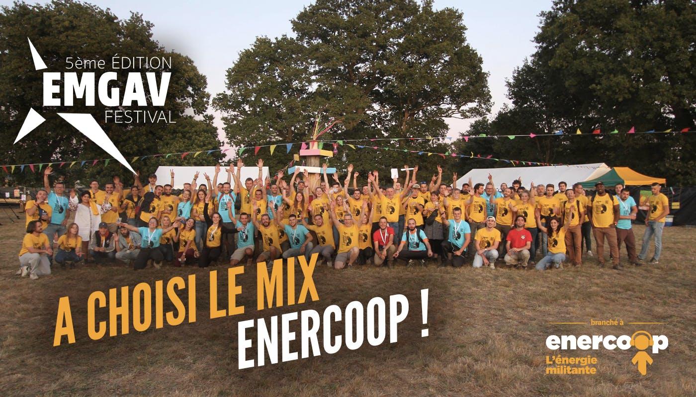 Enercoop Bretagne : Enercoop alimente de nouveau le EMGAV Festival