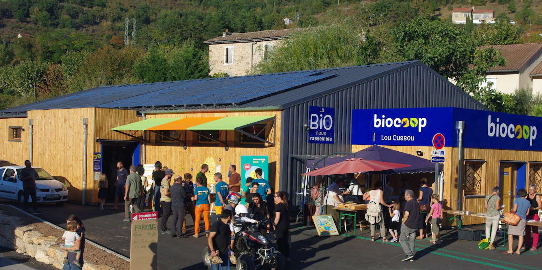 La Biocoop de Saint-Affrique et son installation photovoltaïque par Enercoop Midi-Pyrénées