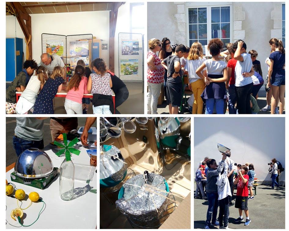 Journée de sensibilisation aux énergies renouvelables et low-tech avec les écoliers de la Rochelle et sociétaires du groupe local Enercoop de la Rochelle - Enercoop Nouvelle-Aquitaine
