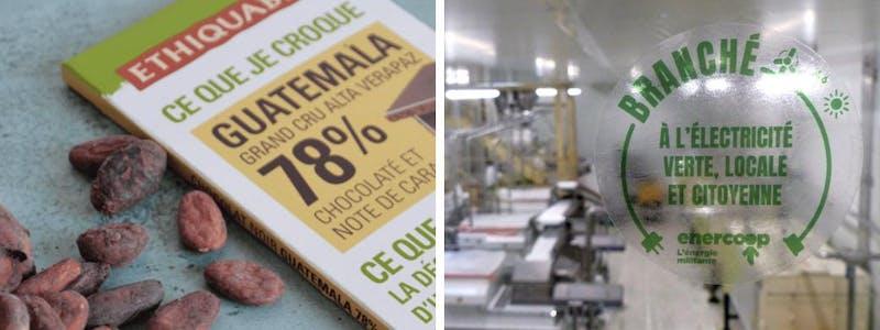 Le chocolat Ethiquable branché à l'électricité d'Enercoop