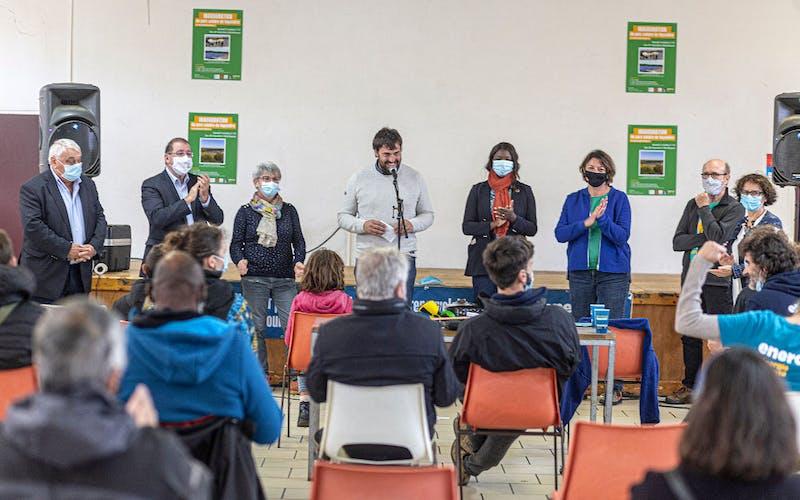 Discours des élu-es lors de l'Inauguration du parc solaire de Montfaucon par Enercoop Midi-Pyrénées