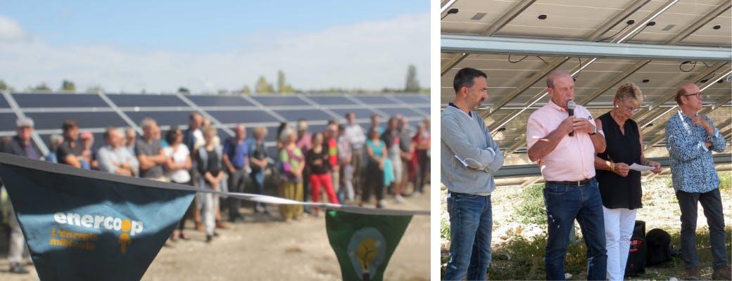 Inauguration du parc solaire de Lacombe de la Pature à Villesèque par Enercoop MIdi-Pyrénées