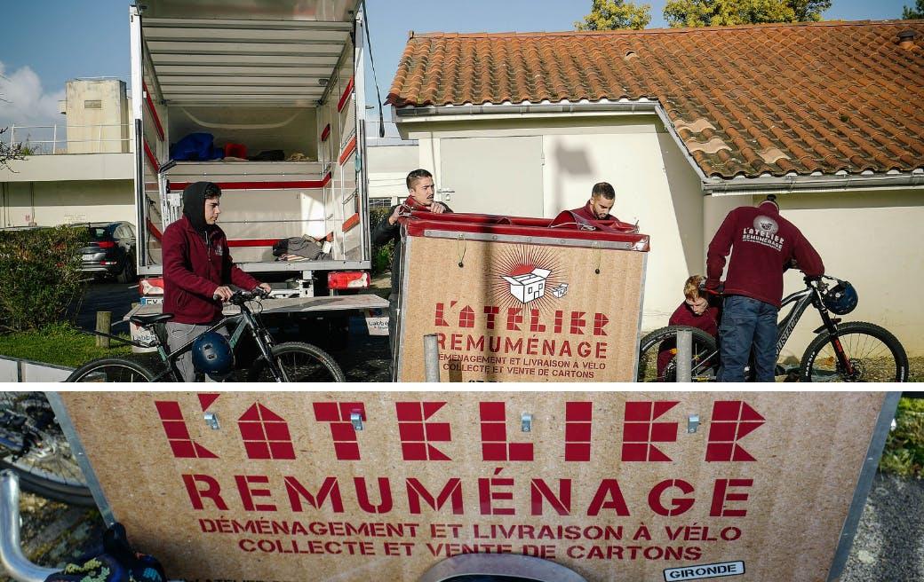 Les équipes de l'association Atelier Remuménage, cliente d'Enercoop - Enercoop Nouvelle-Aquitaine