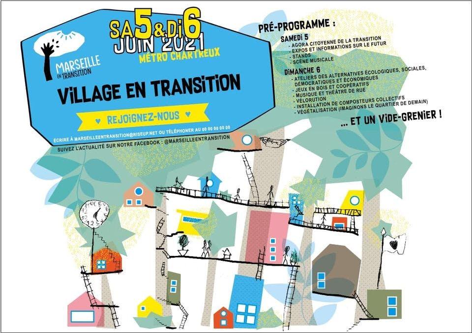 Affiche de Marseille Village en Transition