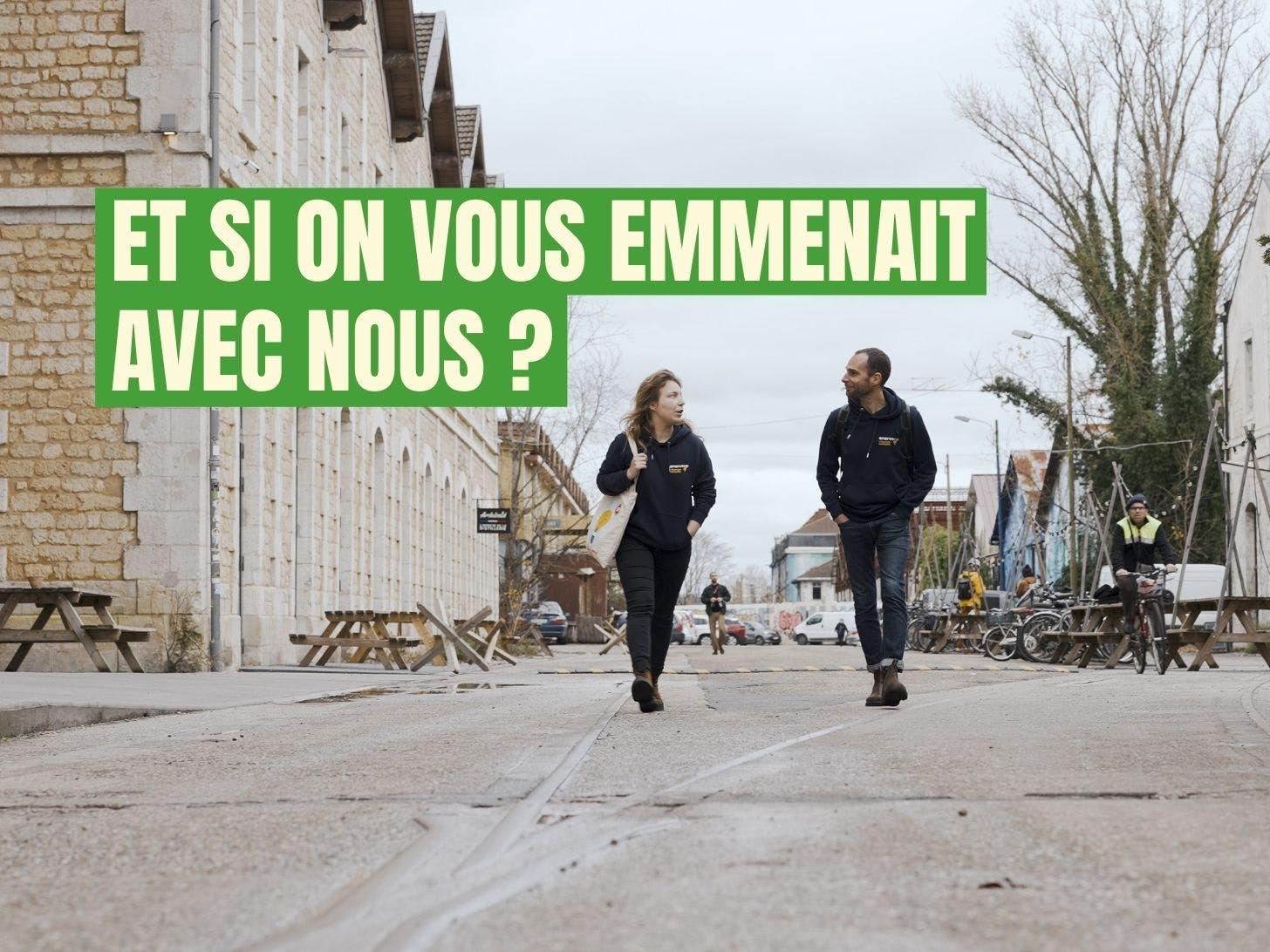 Mathilde et Jérôme en route pour aller rencontrer celle et ceux qui font Enercoop en Nouvelle-Aquitaine - Enercoop Nouvelle-Aquitaine