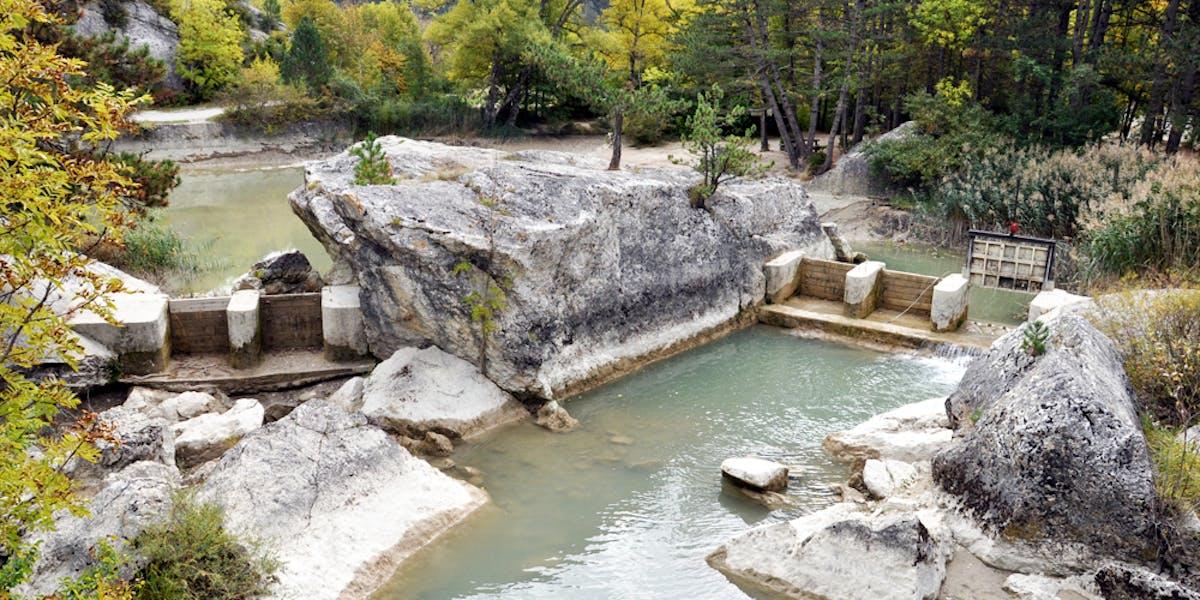 Site de production d'énergie hydraulique