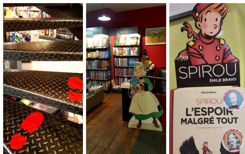 Intérieur de la librairie KrazyKat à Bordeaux - Enercoop Nouvelle-Aquitaine