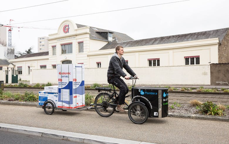 Enercoop - Pays de la Loire - Ze Plombier - Nantes - vélo électrique - plombier - dépannage