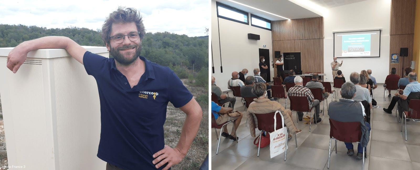 Réunion publique pour le parc solaire à Lachapelle Auzac - Enercoop Midi-Pyrénées