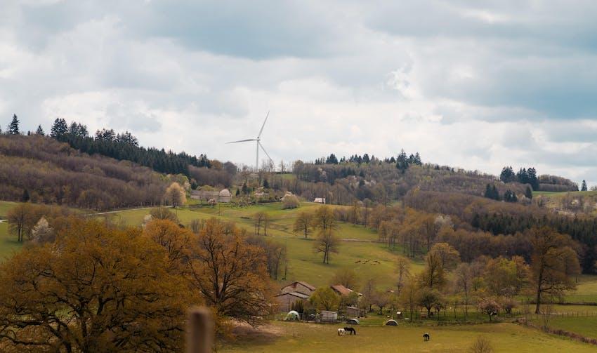 Photovoltaïque au sol - Rilhac-Lastours - crédit photo : Lycia Walter - Enercoop Nouvelle-Aquitaine