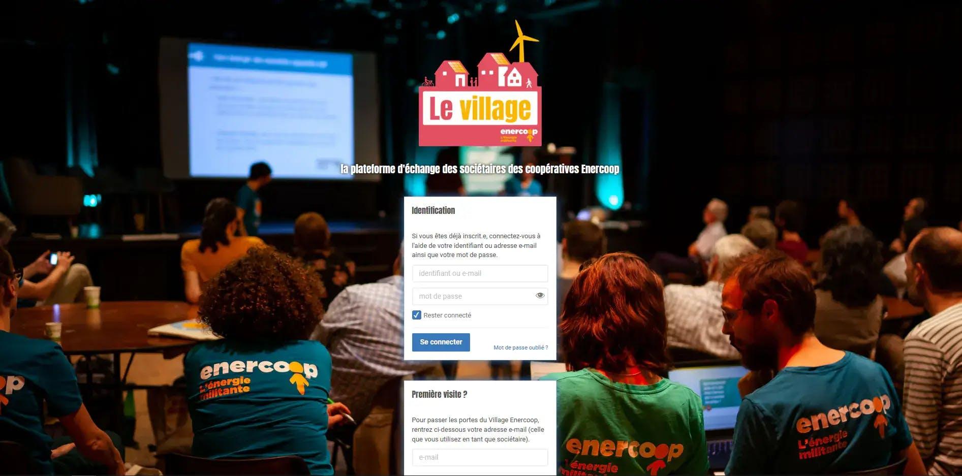 Enercoop Paca - Vie coopérative - Plateforme d'échange Village -  Page  d'Accueil