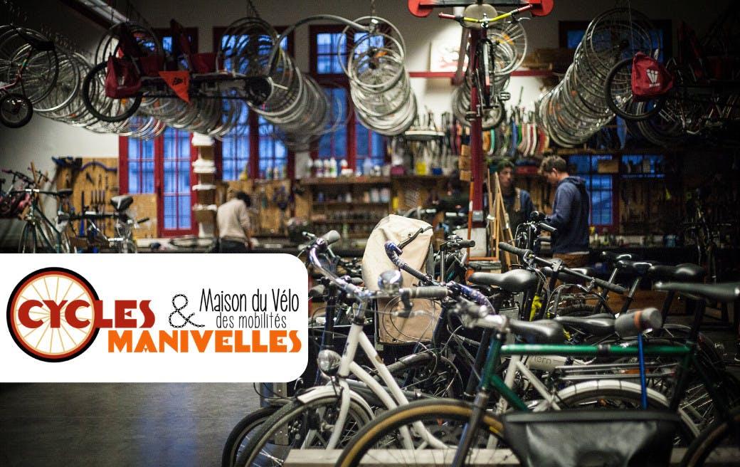 Maison du vélo et des mobilités, ateliers Cycles & Manivelles à Bègles - Enercoop Nouvelle-Aquitaine