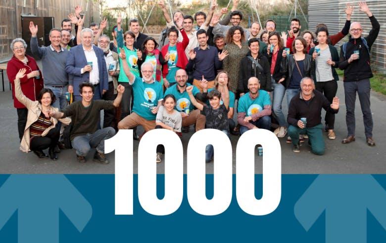 Enercoop Pays de la Loire - 1000 sociétaires