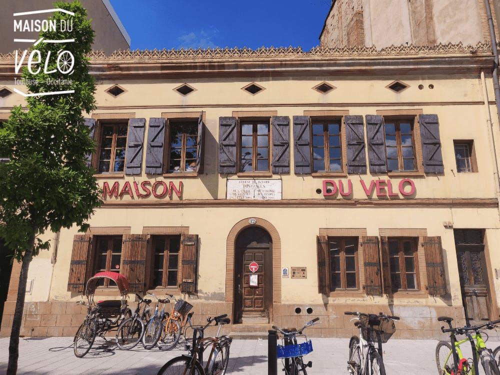 La façade de l'association la Maison du Vélo à Toulouse