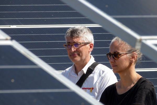 Francois et Mathilde, directeur bénévole et présidente d'Enercoop Midi-Pyrénées