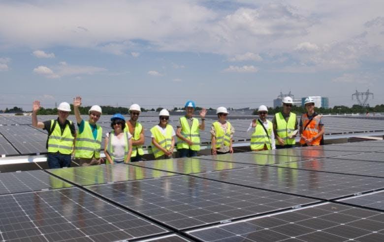 Enercoop Pays de la Loire - Marché d'Intérêt National de Nantes - centrale photovoltaïque