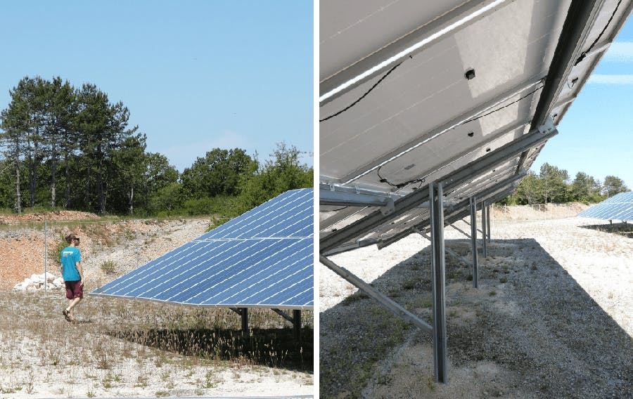 Parc solaire de Combel Rimat à Blars - Enercoop Midi-Pyrénées