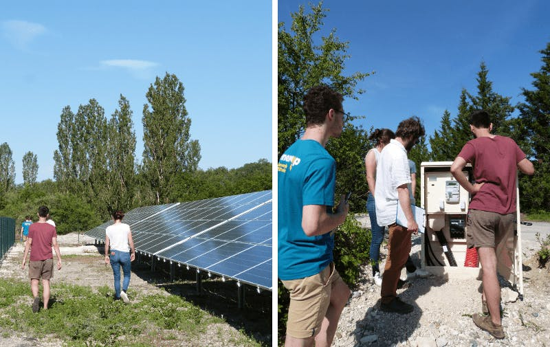 Parc solaire de Lacombe de la Pature à Villeseque - Enercoop Midi-Pyrénées