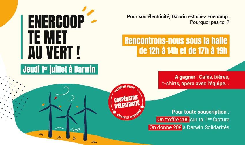 Enercoop te met au vert le 1er juillet à Darwin - Enercoop Nouvelle-Aquitaine