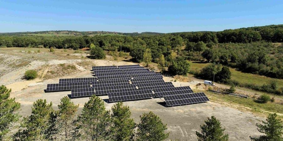 Parc solaire de Combel-Rimat à Blars par Enercoop Midi-Pyrénées