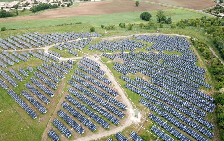 Enercoop Paca - Production - Centrale solaire Mallemort - Parc photovoltaïque au sol
