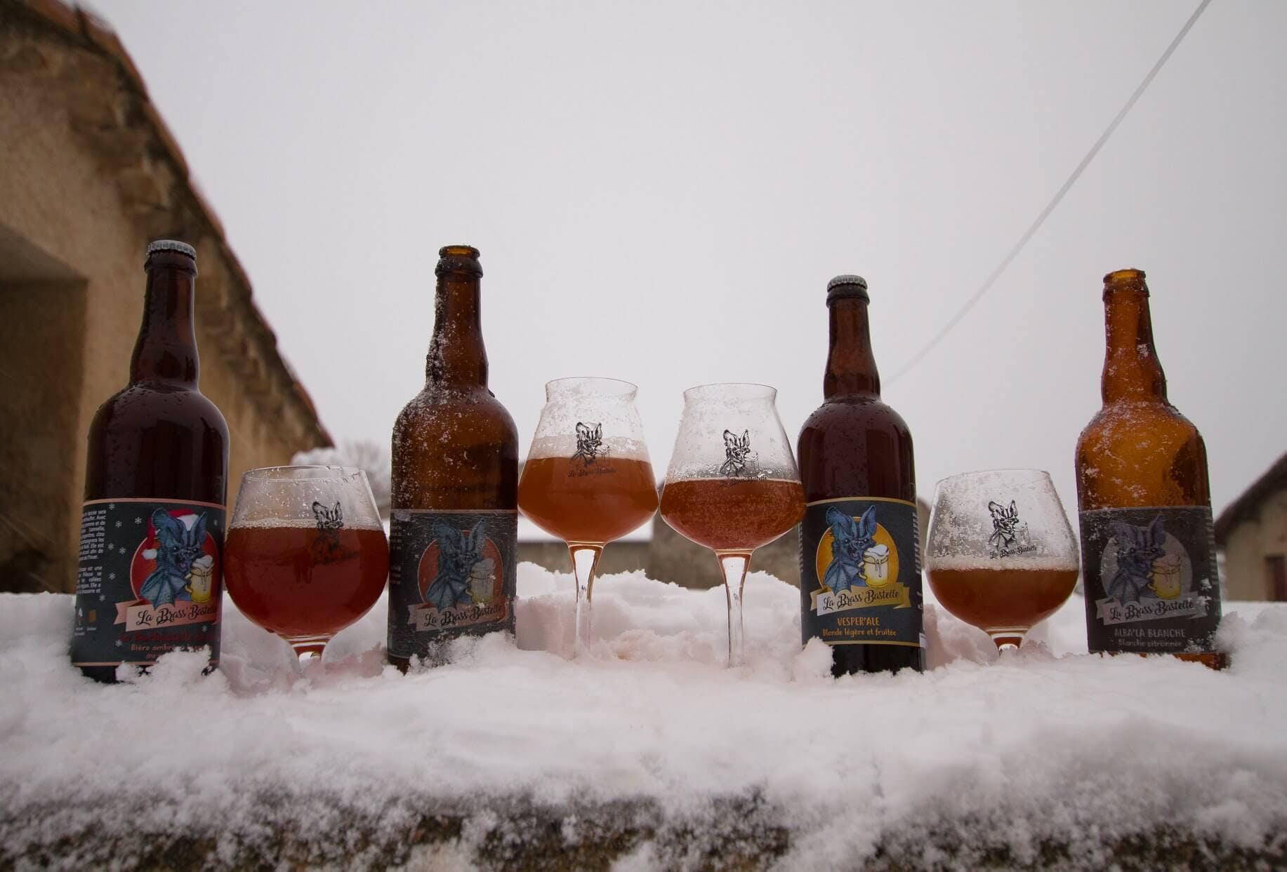 Enercoop Paca - Clients Professionnels - Brasserie Brass'Bastelle Volx 04 - Verres bouteilles bières neige