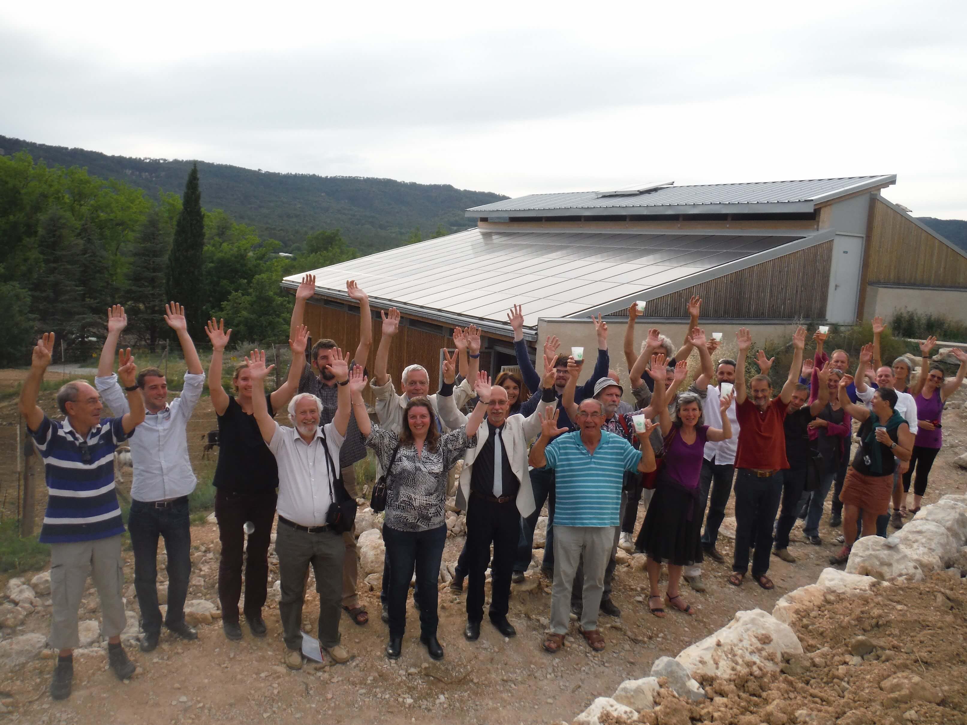 Enercoop Paca - Producteurs - Energ'Ethique - Centrale photovoltaïque Moustiers Sainte-Marie 04 - Equipe