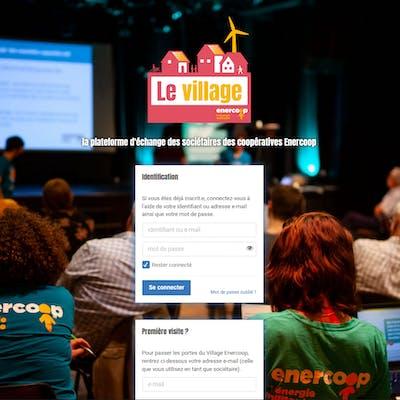 Plateforme sociétaires Enercoop le Village