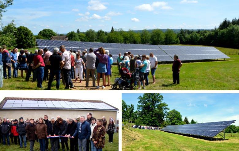 Inauguration de deux centrales solaires citoyennes qui vendent leur électricité à Enercoop à Rilhac-Lastours (Haute-Vienne) - Enercoop Nouvelle-Aquitaine