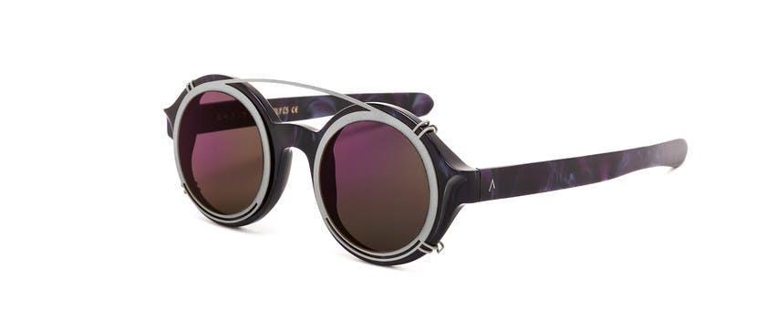 Molly C5 Silver Clip On Purple