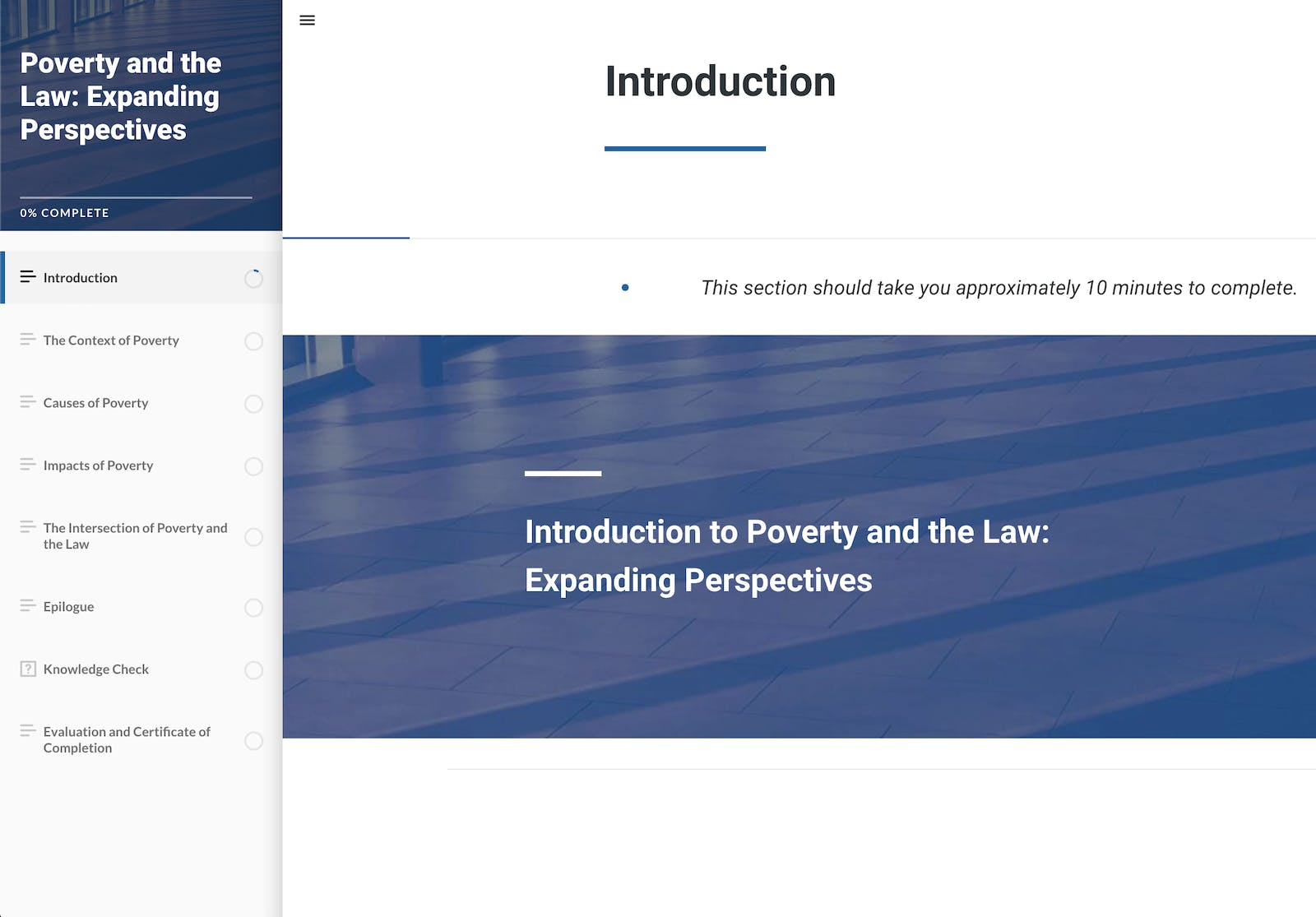 Poverty and the Law: Expanding Perspectives screenshot
