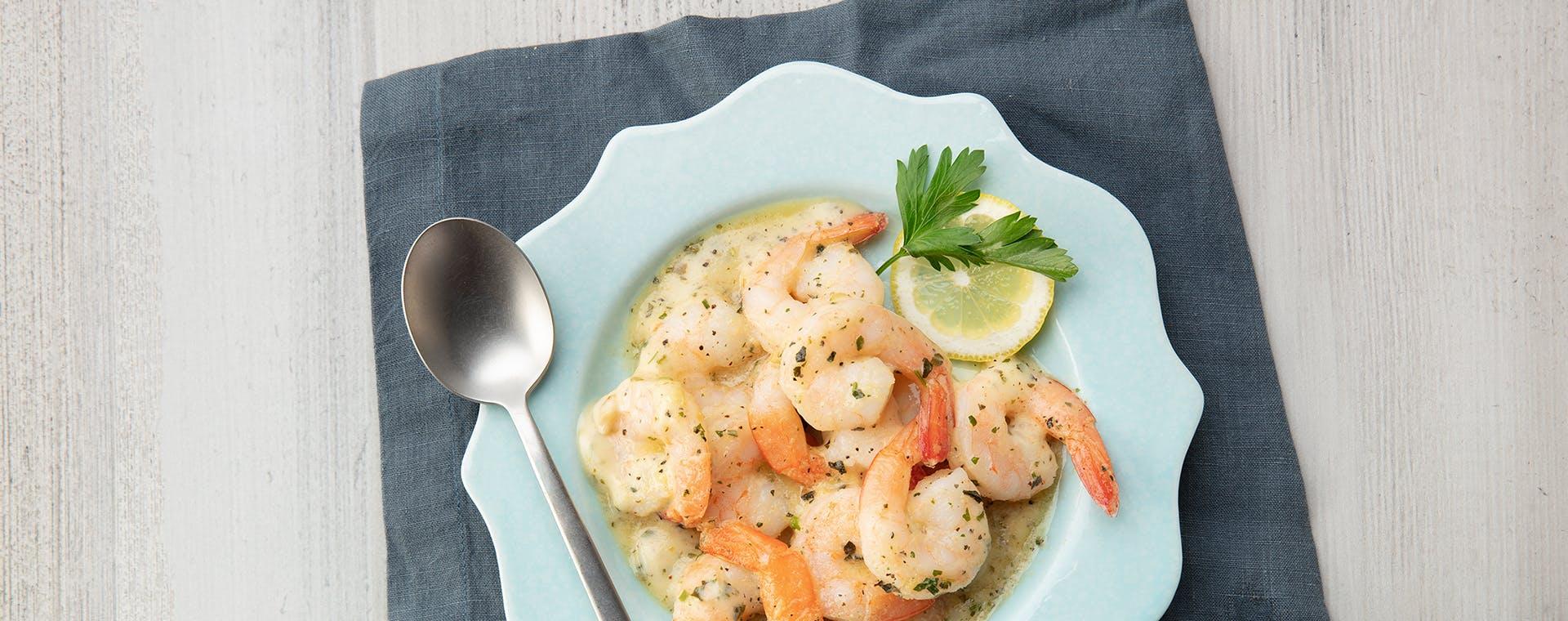 Shrimp Scampi with Lemon Garlic Herb Butter