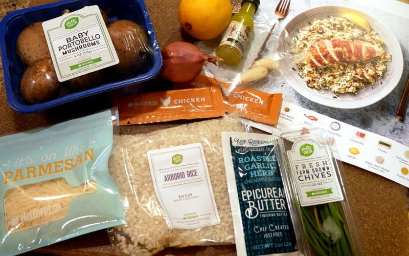 Hello Fresh Meal Kit with Epicurean Butter