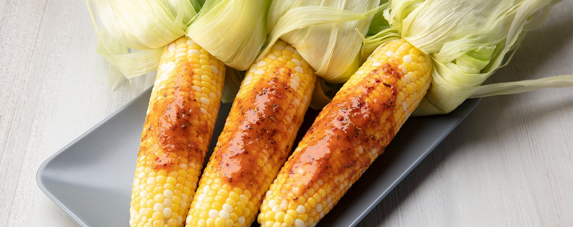 Sweet Corn with Chili Lime flavored butter