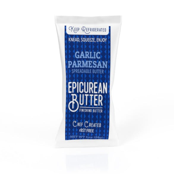 Garlic Parmesan Butter 1oz Squeeze Pack - front view
