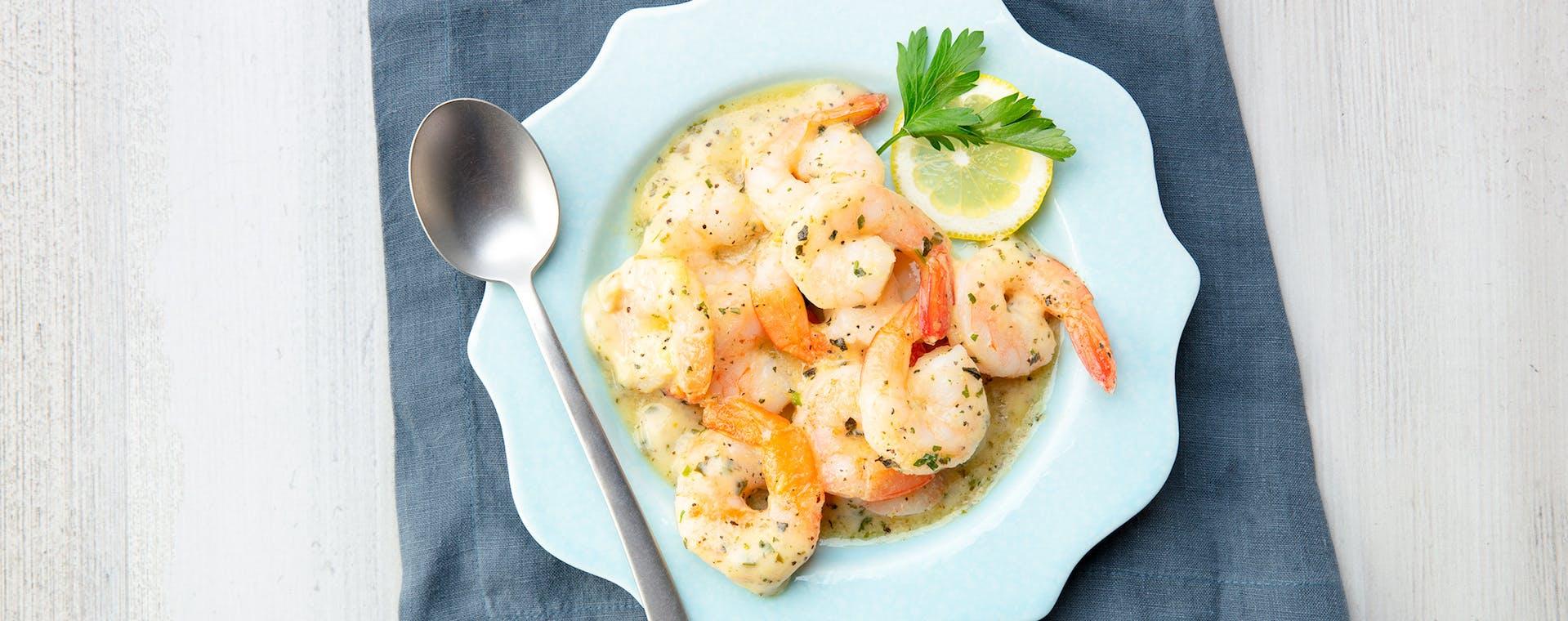 Shrimp Scampi with Lemon Garlic Herb flavored butter