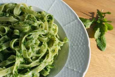 Arugula Pesto with Tuscan Herb flavored butter