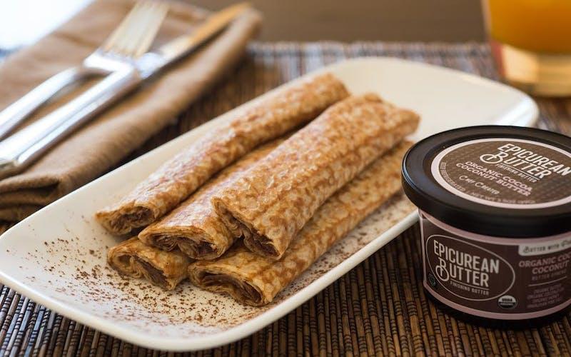 Crepe's with Epicurean Orangic Cocoa Coconut Butter