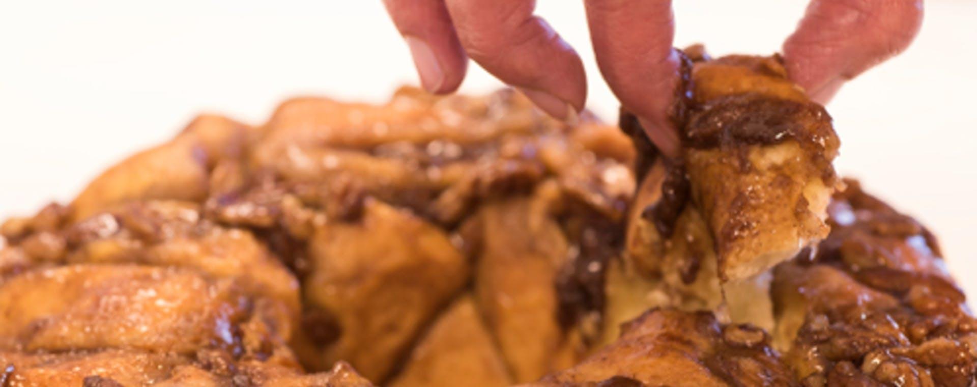 Cinnamon & Pecan Pull Apart Bread with Cinnamon & Brown Sugar flavored butter