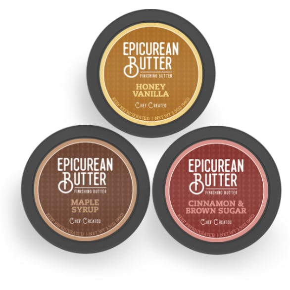 Breakfast Butters 3-pack top of tubs view