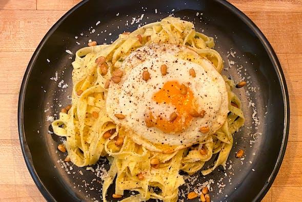 Brown Butter Pasta with Epicurean Butter Garlic Parmesan.