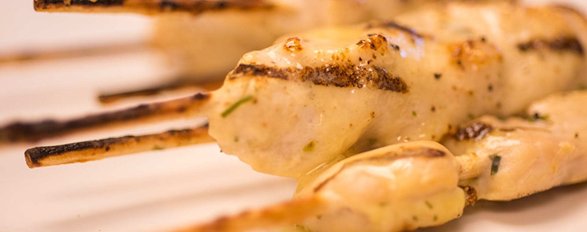 Chicken Skewers with Flavored Butter